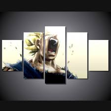 dragon ball z canvas prints 5 pieces painting wall art home decor