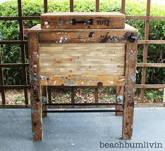 Rustic Wooden Outdoor Furniture Ana White Rustic Wood Cooler Box Made From Pallets Diy Projects