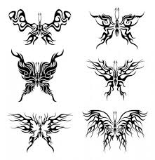 small tribal tattoos butterfly tattoos designs free butterfly