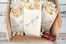 popcorn wedding favors wedding favor popcorn bags nye or evening reception late