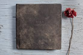 embossed leather photo album vintage leather with name embossed album possibilities