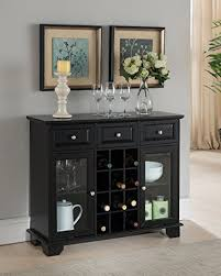 sideboard cabinet with wine storage amazon com kings brand furniture buffet server sideboard cabinet