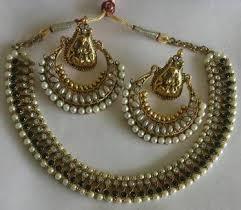 black necklace sets images Buy designer ram leela pearl earrings with black colour necklace jpg