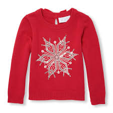 toddler sleeve sequin snowflake sweater the