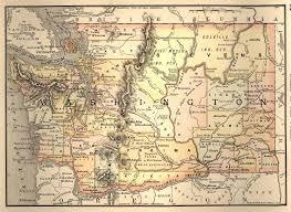 Map Of Western Washington 1888 Map Of Washington
