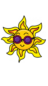 how to draw a sun with sunglasses easy by drawing tutorial
