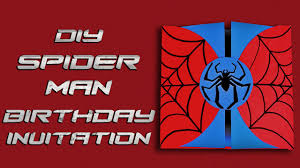 graphic design birthday invitations diy spiderman birthday invitation youtube