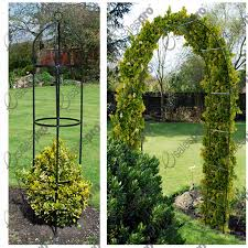 garden arch u0026 obelisk trellis feature climbing plant roses either