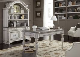 magnolia manor antique white home office set from liberty
