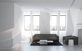 Neutral Modern Decor Interior Design Ideas by White Interior Wall For Bright Amazing Interior Design Hupehome