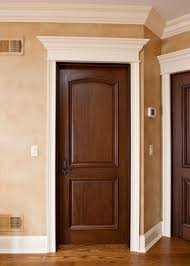 custom interior door single solid wood with walnut finish