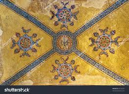 decorative interior beautiful hagia sofia mosque stock photo