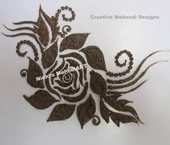 design flower rose drawing how to draw easy rose flower patch in henna mehndi design tutorial