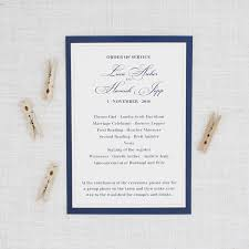 order of wedding program traditional navy blue and blush pink wedding program be my guest