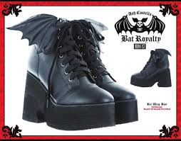 bats for sale pre sale bat royalty bat wing boot by iron ash costello