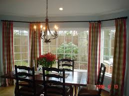 window treatments for bay windows in dining room interior designs