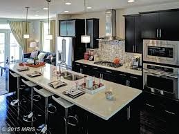 kitchen islands cool contemporary kitchen with breakfast bar one