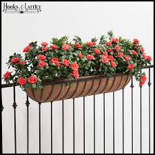 deck rail planter boxes planters for railings hooks u0026 lattice