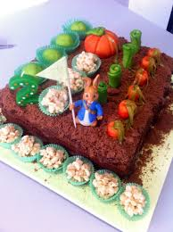 mr mcgregor s garden rabbit rabbit mr mcgregor s veg garden cake