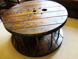coffee table stylish spool coffee table design ideas wooden spool