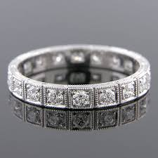 599 101 art deco inspired pave set diamond segmented platinum