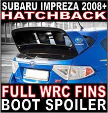 subaru hatchback spoiler subaru impreza 2008 grb hatchback full wrc fins style rear boot