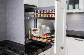 traditional kitchen on bench pull out pantry spice rack www