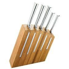 couteaux de cuisine japonais bloc couteau cuisine kimono bloc en bambou avec 5 couteaux bloc de