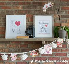 free printable art home decor valentine s mantel and free printable art postcards from the ridge