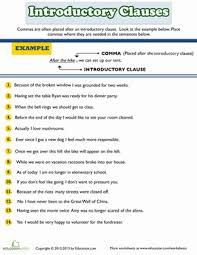 phrases and clauses worksheet worksheets