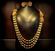 gold necklace patterns images One gram gold long chain jewellery designs jpg