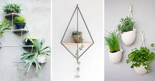 planters that hang on the wall 10 modern wall mounted plant holders to decorate bare walls