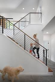 Recessed Handrail Austin Stair Railing Mode Staircase Contemporary With Recessed
