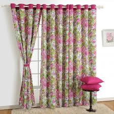Swayam White N Pink Floral Buy Curtains Printed Solid Black Out U0026 Kids Curtains Online