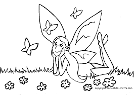 fairy coloring pages print kids coloring