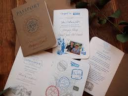 passport invitation u2013 rustic wedding style u2013 paper pleasures