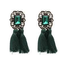 emerald green earrings meera emerald green earrings lanish collections