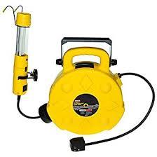 bayco led portable work light bayco sl 8907 13 watt fluorescent spot work light with 50 foot reel