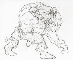image gallery spiderman hulk drawing