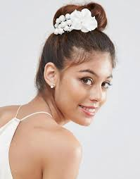 hair corsage asos asos bridal flower hair corsage
