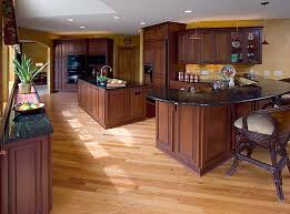 Kitchen Floors With Cherry Cabinets Jacquedesign Interiors Traditional Cherry Kitchen