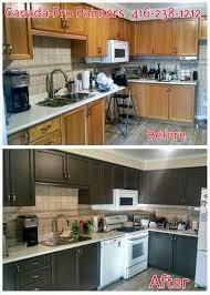 elite custom painting cabinet refinishing inc oak kitchen updated with benjamin moore 2134 10 night horizon