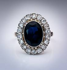 sapphire rings vintage images Art deco european sapphire engagement ring antique jewelry jpg