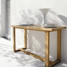 outdoor console table manutti siena teak outdoor console table