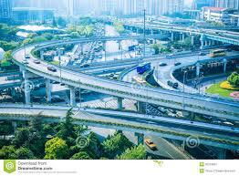 Modern City by Elevated Road And Modern City Royalty Free Stock Image Image