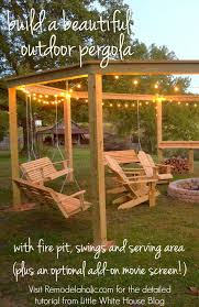 Swings For Backyard Remodelaholic Tutorial Build An Amazing Diy Pergola And Firepit