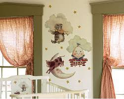 Nursery Rhyme Wall Decals Adorable Wall Treatment For A Nursery Rhymes Wall Mural