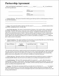 standard partnership contracts template standard partnership