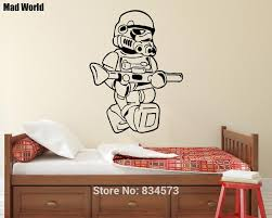 aliexpress com buy mad world storm trooper silhouette kids wall mad world storm trooper silhouette kids wall art stickers wall decal home diy decoration removable room decor wall stickers 75x57cm