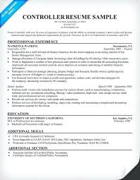 controller resume exle controller resume sle